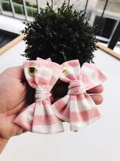Pink headband, Oversize Bow