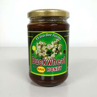Pure Raw Buckwheat Honey 383g + Free Delivery (Great for Sore Throat/Coughs)