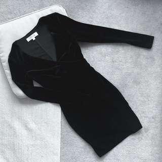 meski velvet body-con dress