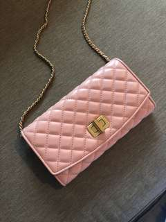 Charles & Keith Millenial Pink Quilted Purse