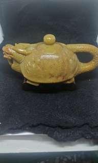 老件壽山石茶壺