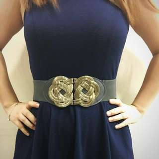 ‼️Repriced: Stretchable Belt With Gold Buckle