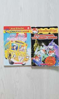 Geronimo Stilton #11 It's Halloween You 'Fraidy Mouse! & The Magic School Bus - Amazing Magnetism