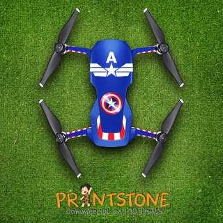 DJI Mavic Air Decal Sticker/Skin Sticker - Marvel Captain America
