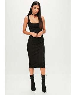 Ankle Grazer bandage dress - Black