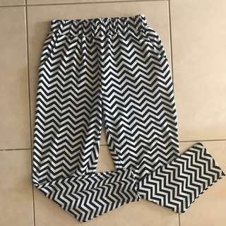 Zigzag pyjama pants