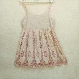 EARTH Kawaii Vintage Pink Beige Dress