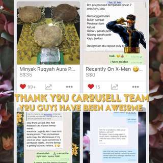 Kudos to Carousell Team ☺️ #Blessing