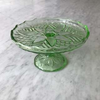 Footed Glass Fruits Bowl