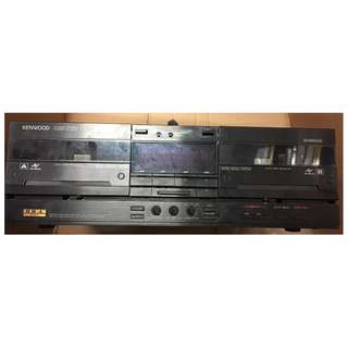 467. KENWOOD STEREO DOUBLE AUTO RESERVE CASSETTE DECK X-92