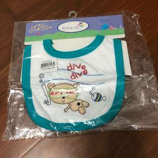 Baby Bib with cute embroidery - new