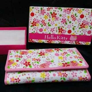 Sanrio Eikoh Hello Kitty 粉紅色 櫻花圖案 銀包 長銀包 錢包 長錢包 Wallet 景品 全新正版有盒