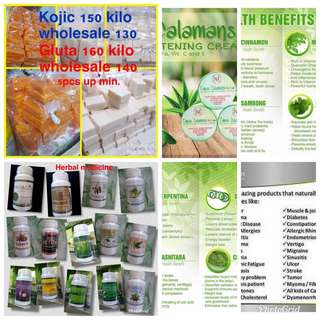 Herbal medicine/kojic soap And gluta