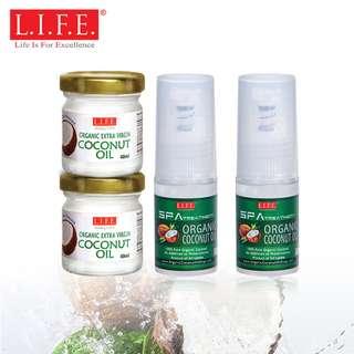 有機SPA冷壓呵護肌膚護理裝椰子油 140 毫升 SPA Treatment Organic Coconut Oil 140ml