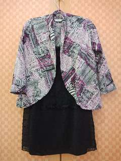 Outer + inner lace black