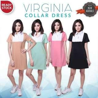 Virginia Collar Dress/Baju kerah