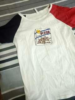 🚚 🍕 撞色Pizza上衣🍕#畢業一百元出清