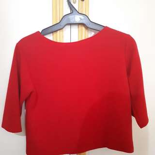 Crop Top Red