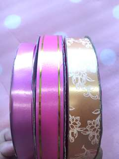 Craft ribbons/present ribbons