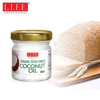 酒店百搭包裝有機冷壓初榨椰子油40毫升F&B Extra Virgin Organic Coconut Oil 40ml