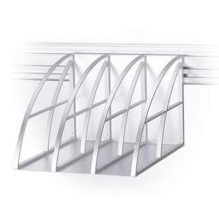 Track System File Holder - Silver