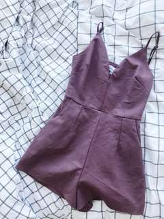 Mauve Plunging Playsuit
