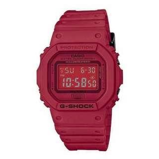 GSHOCK DW5600 MATTE RED