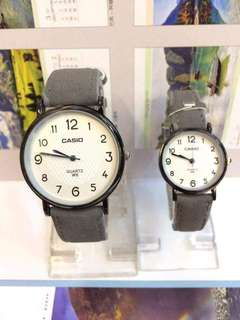 Casio Leather Couple Watch