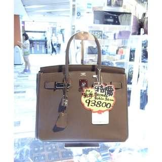 Hermes 8F Etain Gray Togo Leather Classic Birkin 30cm B30 Shoulder Handbag Hand Bag PHW 愛馬仕 錫灰色 錫器灰色 牛皮 皮革 銀扣 經典款 柏金包 30公分 手挽袋 手袋 肩袋 袋