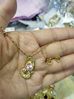 Plated 24k gold 電鍍金吊咀連耳環