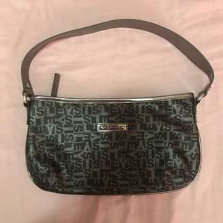 Sisley - black and silver handbag