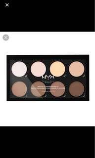 🚚 NYX Contour corrector highlighter pro palette set