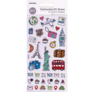 Miniso Transparent Stickers (Travel)
