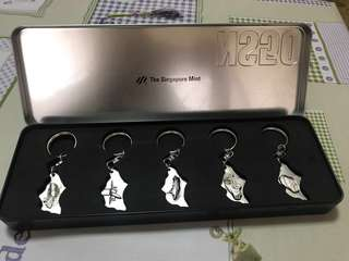 The Singapore Mint NS50 Keychain Set collectible