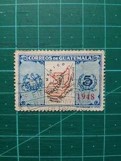 [贈品]1948 危地馬拉 國家標記 加蓋 舊票一套