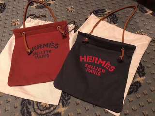 紅色/深藍Hermès Aline Toile bag  100% new & real