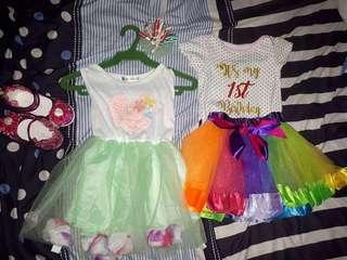 Birthday Dress,1st birthday terno Tutu skirt