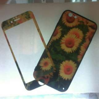 Iphone 6 sunflower with tempered