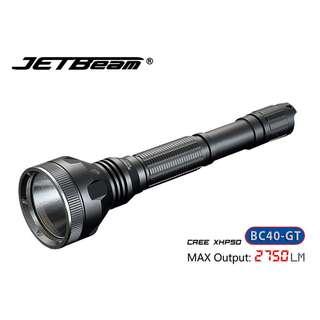 {MPower} Jetbeam BC40-GT 美國名廠 CREE XHP50 LED 2750 流明 LED Flashlight 電筒 - 原裝正貨