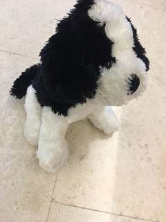 Soft Toy Puppy (Black& White)