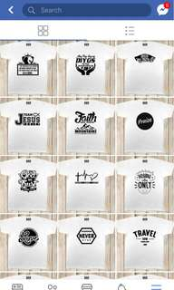 Customized TEE Shirt in Different Colors and Sizes