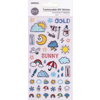 Miniso Transparent Stickers (Weather)