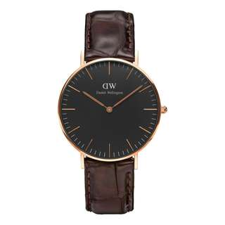 DW CLASSIC BLACK | 36MM YORK - NEW & ORIGINAL