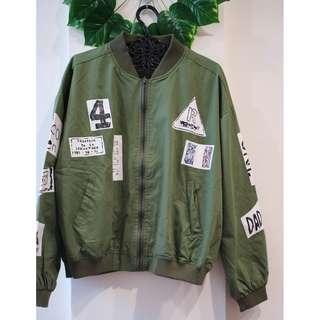 KOREAN Army green Bomber Jacket