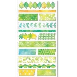 Mind Wave Washi Masking Seals/Stickers (Green)