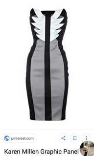 Karen Millen Dress Black and grey