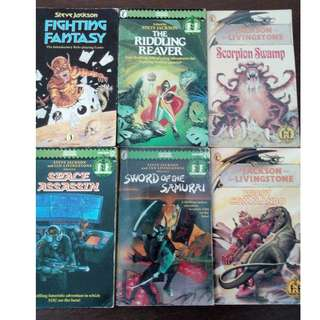 Fighting Fantasy Gamebooks (see remaining books)