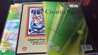 Construction papers (x5)