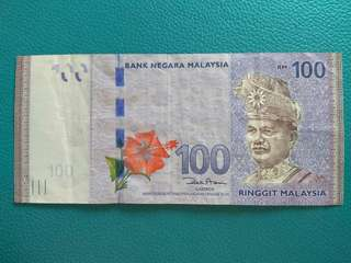 🚚 Malaysia $100 (ZB Replacement Note)[Nice Number]