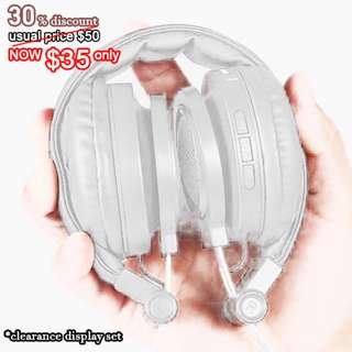 [ Clearance Display set ] Matt White Wireless Headphone